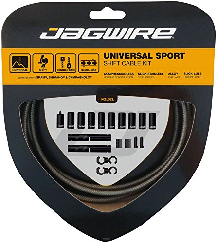 Jagwire Universal Sport Shift Cable Kit fits SRAM/Shimano and Campagnolo, Carbon - Shift Carbon