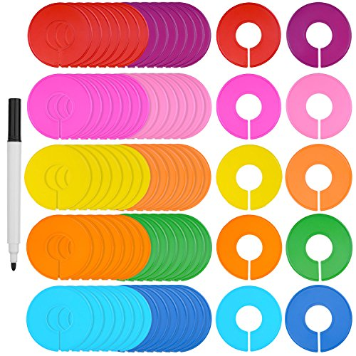 blulu-80-pieces-colored-blank-closet-size-dividers-round-clothing-rack-dividers-with-marker-pen-10-c
