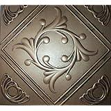 "Ceiling Tile - Faux Tin Like - Anet Antique Bronze 20x20"""
