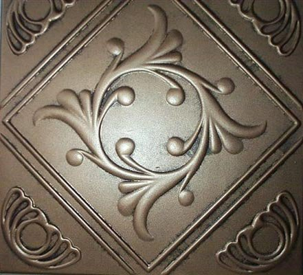 ceiling tile faux tin like anet antique bronze