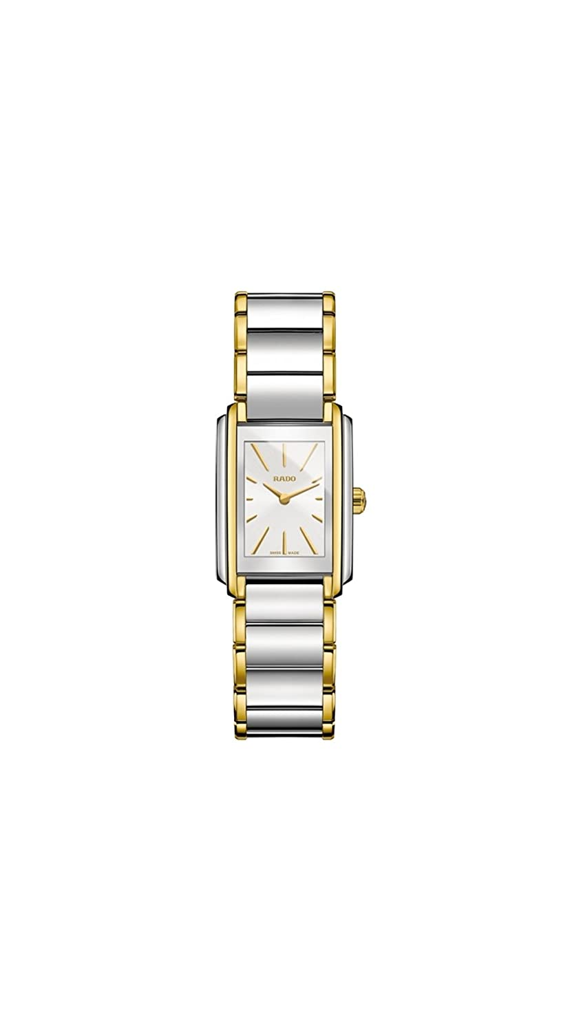 Amazon.com: Rado Womens Swiss Integral Gold-Tone PVD and Stainless Steel Bracelet Watch 23mm R20212103: Watches