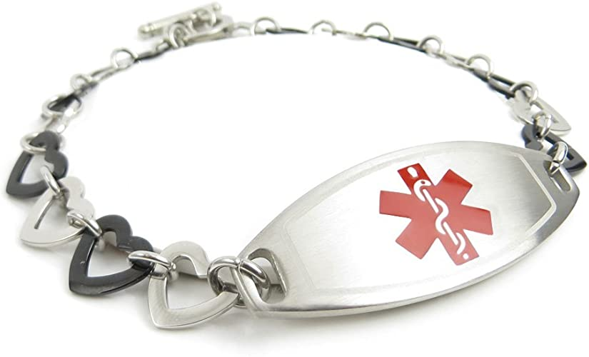 Pre-Engraved /& Customized Taking Warfarin Charm Medical Bracelet Red My Identity Doctor Red Millefiori Glass