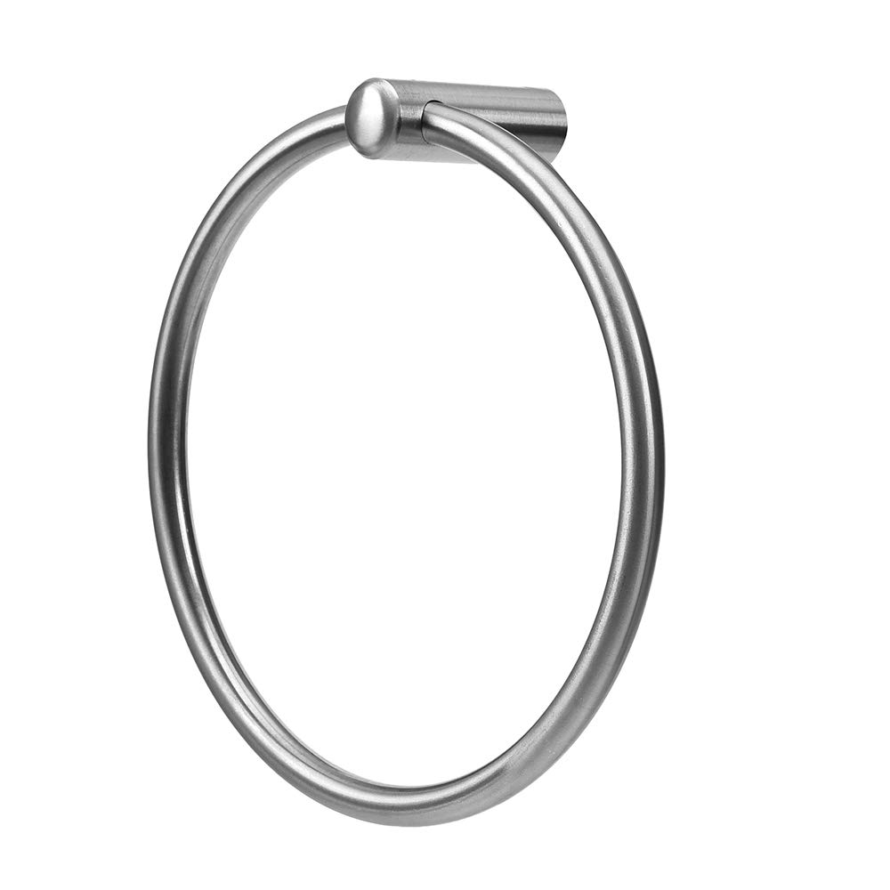 Rauken Towel Ring Wall Mounted Towel Holder for Bathroom and Kitchen, SUS304 Stainless Steel Brushed Finish, TR001