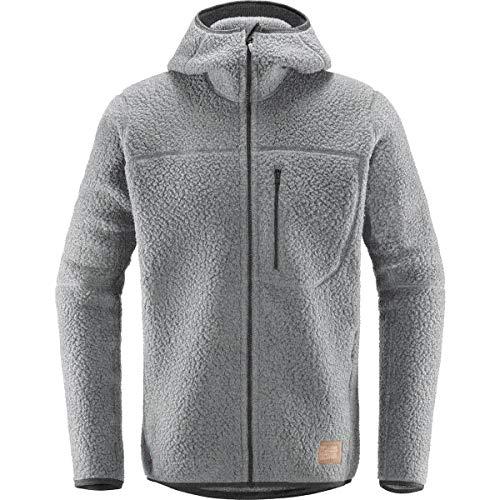 Haglofs Pile Hooded Fleece Jacket - Men's Grey Melange, M from Haglofs