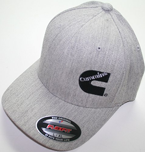 dodge-cummins-truck-diesel-cummings-flexfit-hat-ball-cap-fitted-flex-fit-s-m-heather