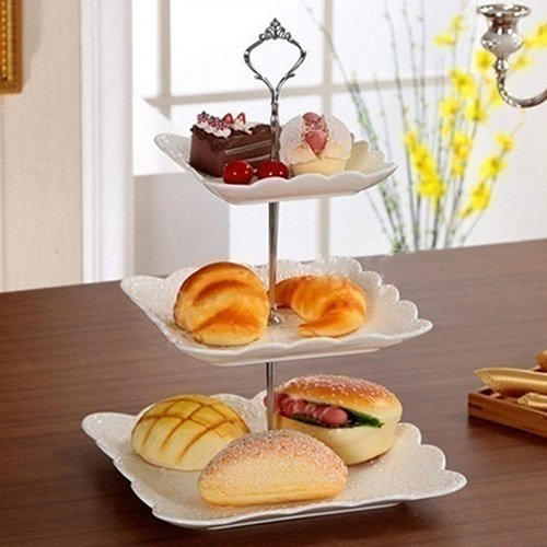 WskLinft 3 Tier Hardware Crown Cake Plate Stand Handle Fitting Wedding Party Table Decor - Bronze by WskLinft (Image #3)