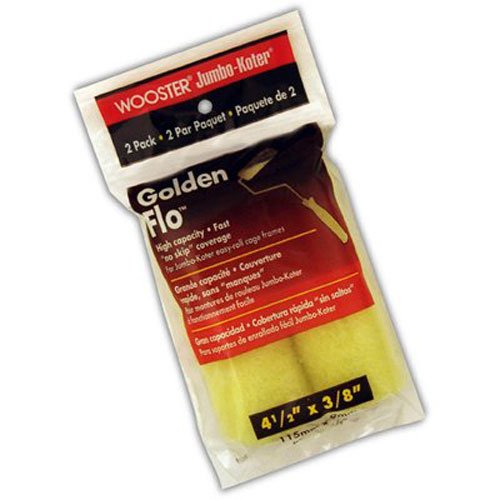 Wooster Brush RR315-4 1/2 Golden Flo Roller, 4.5 Inch (2-Pack)