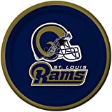 Creative Converting 8 Count St. Louis Rams Paper Dessert Plates