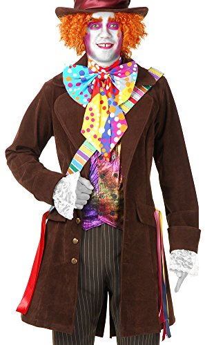 Electric Mad Hatter Orange Hat (Electric Mad Hatter with Pants & Boots Adult Costume - X-Large)
