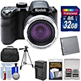KODAK PIXPRO AZ421 Astro Zoom Digital Camera with 32GB Card + Case + Battery/Charger + Tripod + Kit