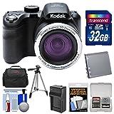 KODAK PIXPRO AZ421 Astro Zoom Digital Camera with 32GB Card + Case + Battery/Charger + Tripod + Kit