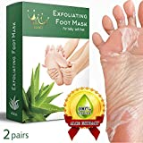 Image of Exfoliating Foot Peel Mask for Soft, Smooth Feet - 2 Pairs Baby Feet Peel Mask, Peeling away Calluses and Dead skin cells. Baby Your Feet in 1-2 weeks. All- natural Aloe Extract.