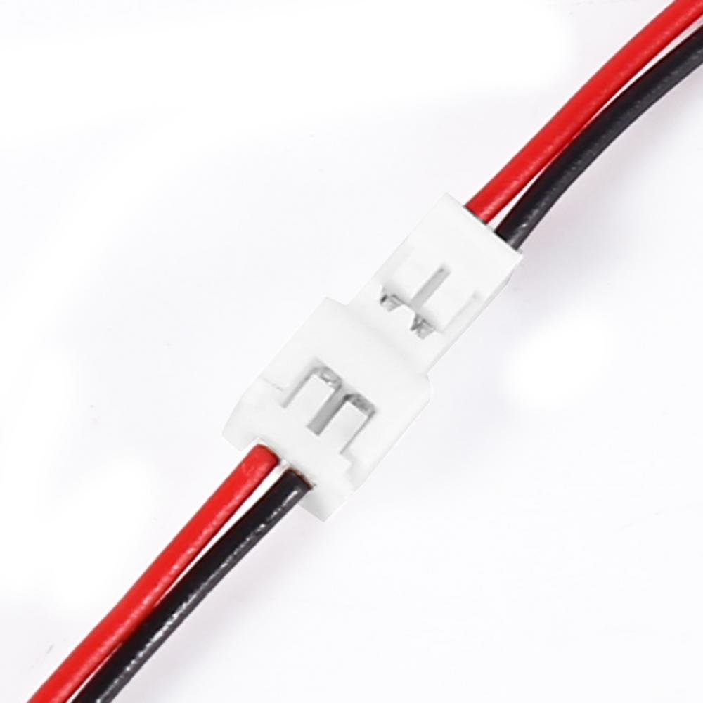 20 Pares 1.25mm 2 Pin Male Female Plug Cable de Conecto 10cm Largo para RC Juguete Bater/ía LED Tira de L/ámpara