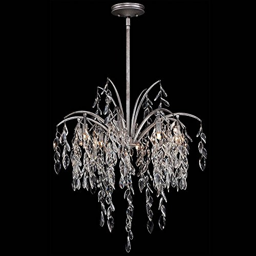 Metropolitan N6868-278 Bella Flora Pendant, 8-Light Xenon 600 Total Watts, Silver (Light Fixture Silver Mist)