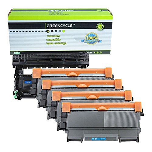 (GREENCYCLE 4 Pack Compatible Toner Cartridge & Drum Unit Replacement Combo for Brother TN450 TN420 High Yield DR420)