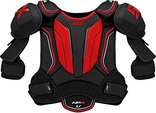 STX Ice Hockey HP SPH1 SR 03 BK/RD Stallion HPR 1.1 Senior Shoulder Pad, Large, Black/Red