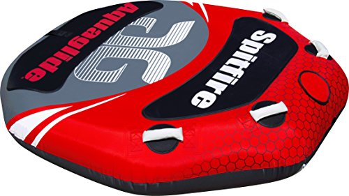 Aquaglide Spitfire 2-Person Towable Tube, Red, Size 60 (Aquaglide Tube)