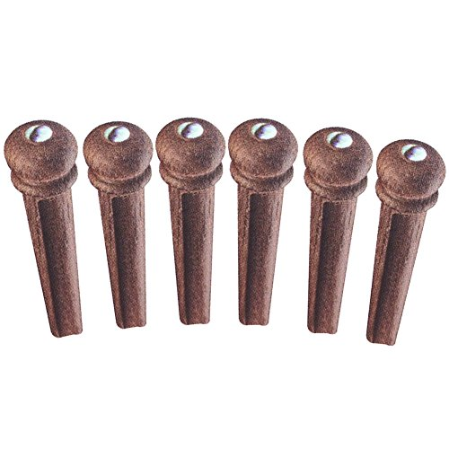- Greenten Guitar Bridge Pins Rosewood for Acoustic Guitar Replacement Parts