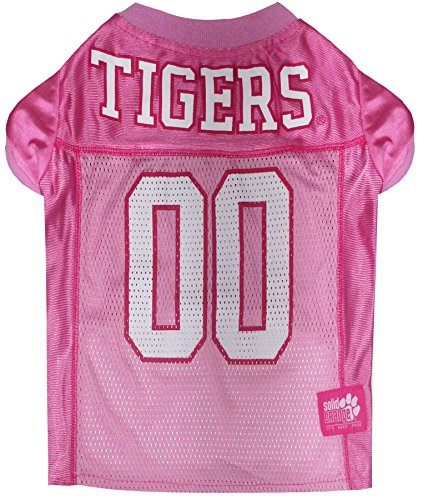 Clemson Tigers Dog Jersey - Pets First Collegiate Clemson Tigers Dog Jersey, Large, Pink