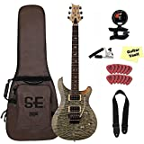 prs se 24 custom - PRS SE Custom 24, 30th Anniversary Floyd Electric Guitar, Trampas Green, With Accessories and Gig Bag