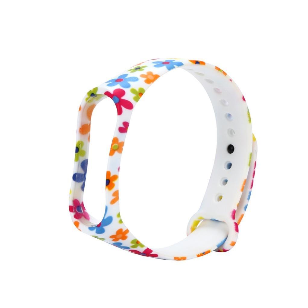Fossrn para Xiaomi Mi Band 3, Silicona Correa de Reloj Reemplazo de Bandas Coloridas Imprimir Banda para Xiaomi Mi Band 3 Bracelet (I): Amazon.es: Deportes ...