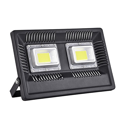 Viugreum 100W LED Flood Light Outdoor, 8500lm Daylight White 6500K, 500W Halogen Bulb Equivalent, Waterproof IP66 Super Bright Outdoor Security Lights for Factory, Garage, Garden, Lawn and Yard