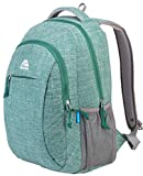 Mozone Casual Lightweight Water Resistant College School Laptop Backpack Travel Bag (Green)