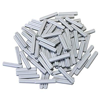 LEGO Parts and Pieces: Technic Light Gray (Medium Stone Grey) 3 Length Axle x100: Toys & Games