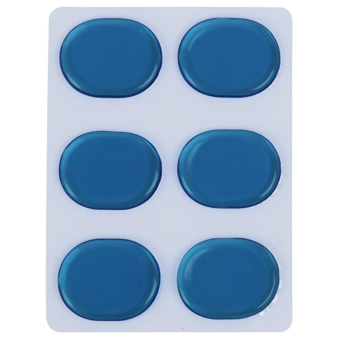 silenziosi ETbotu per percussioni blu Set di 6 tamponi in gel per batteria strumenti