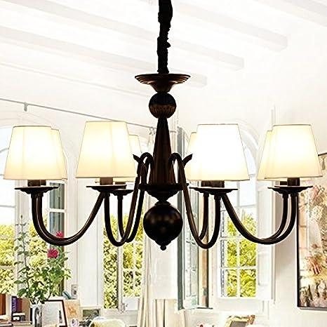 XIN HOME Lámparas de techo de hierro 4 Lino 55 * 45 cm ojo ...