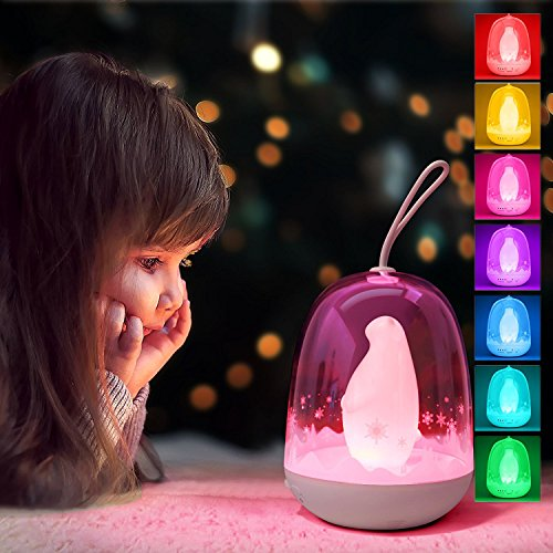 Polar Pendant Light (mamre Multicolor Kids Timer Bed Light Portable Color Changing Lantern RGB LED Outdoor Lamp (Polar Bear))
