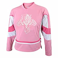 Florida Panthers NHL Reebok Girls Pink Official Team Fashion Jersey