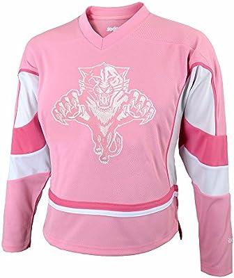 timeless design 87c3d b035d Amazon.com : Florida Panthers NHL Reebok Girls Pink Official ...