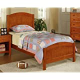 Twin Bed in Oak Wood Finish by Poundex