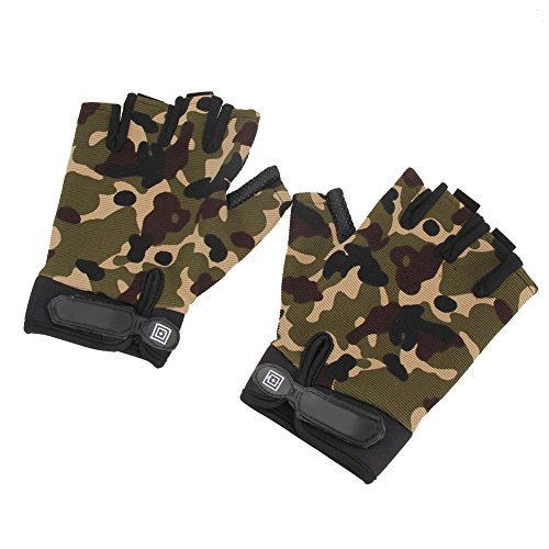 Alloet New Unisex Bike Cycling Bicycle Motorcycle Sport Half Finger Gloves M-XL (XL)