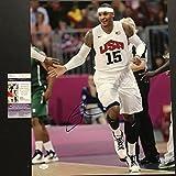 Autographed/Signed Carmelo Anthony Team USA Olympics 16x20 Basketball Photo JSA COA