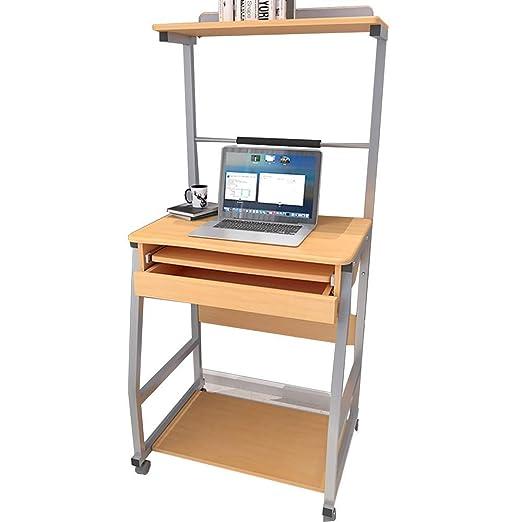 BJYG Mesa Plegable para computadora de Escritorio con Estante para ...