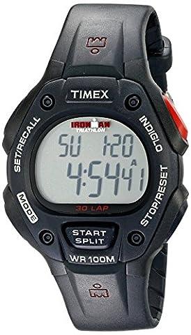 Timex Men's T5H581 Ironman Classic 30 Full-Size Black Resin Strap Watch - Chrono Classic Ladies Watch