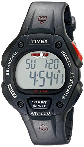Timex Men's T5H581 Ironman Classic 30 Full-Size Black Resin Strap Watch (Ironman Watch For Men)