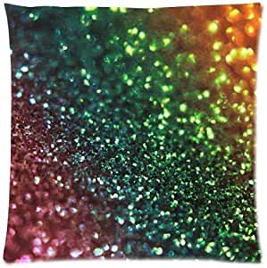 Bling Glitter Soft Square Zippered Cushion Throw Case Pillow Case 18X18 inch (one side) Best Gift
