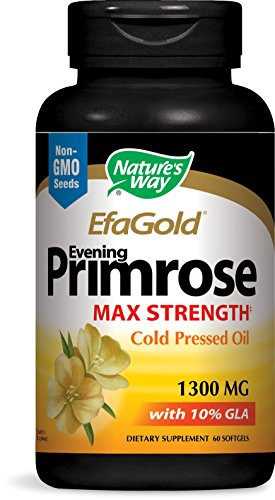 Gla 130 Primrose Oil (Nature's Way EPO Cold Pressed 1300mg, 60 Softgels)