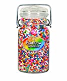 Dean Jacobs Rainbow Sprinkles-Glass Jar with Wire, 6.3-Ounce (Pack of 3)