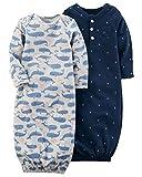 Carter's Baby Boys' 2-Pack Babysoft Whale Sleeper