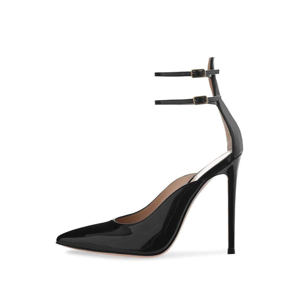 YTTY Escarpins Noirs à Talons Hauts Chaussures Nude, Noir, 42