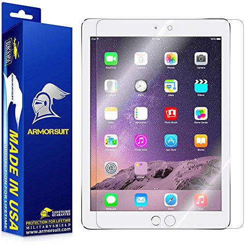 Price comparison product image Armorsuit, Apple iPad Screen Protector (2017, iPad Pro 9.7, Air 2, Air) MilitaryShield Lifetime Replacement Ultra HD Clear Screen Protector For Apple iPad