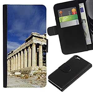 EJOY---La carpeta del tirón la caja de cuero de alta calidad de la PU Caso protector / Apple Iphone 6 / --Arquitectura Antigua Roma Edificio