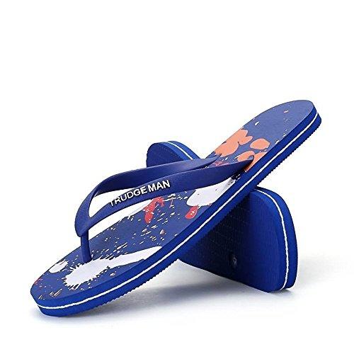 de clásicas Chancletas Hombres Chancletas Sapphire Las los Blue Sandalias de ZTWqdXg