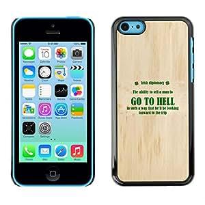 Caucho caso de Shell duro de la cubierta de accesorios de protección BY RAYDREAMMM - iPhone 5C - Ir al infierno irlandesa Diplomacia