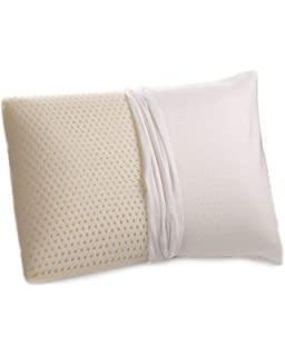 Natural Medium Firm Latex Pillow with 100/% Cotton Cover Pillow for Neck NEW