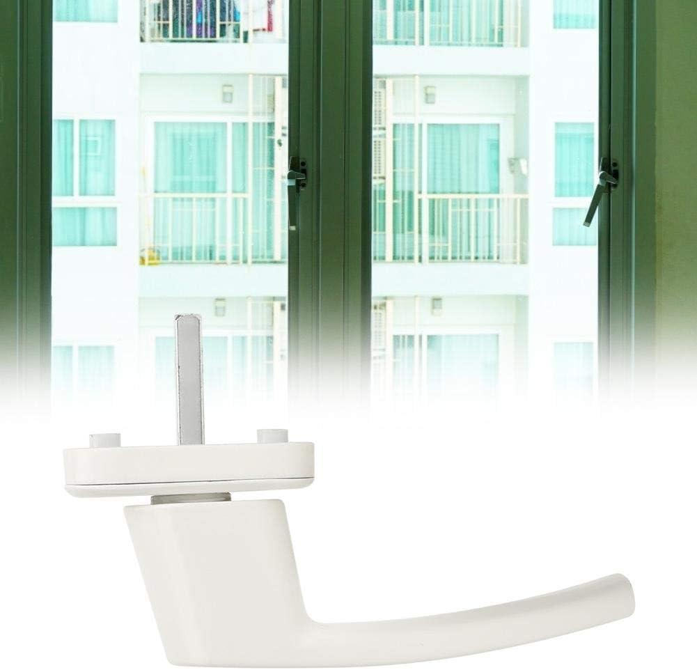 【𝐂𝒚𝐛𝐞𝐫 𝐌𝐨𝐧𝐝𝐚𝒚】Manivela de ventana de pintura blanca al horno, manija de ventana blanca de aleación de aluminio, para puerta de acero, puerta de apertura plana, ventana de plástico, hogar